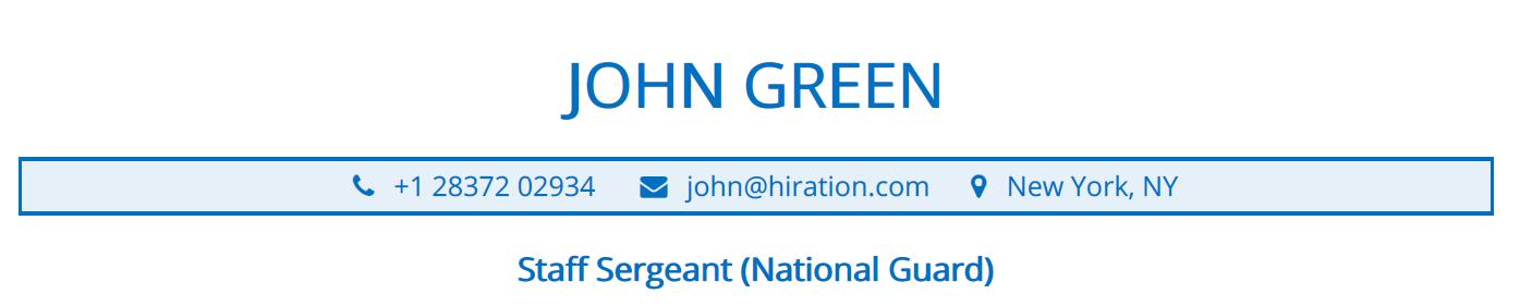 military-resume-profile-title