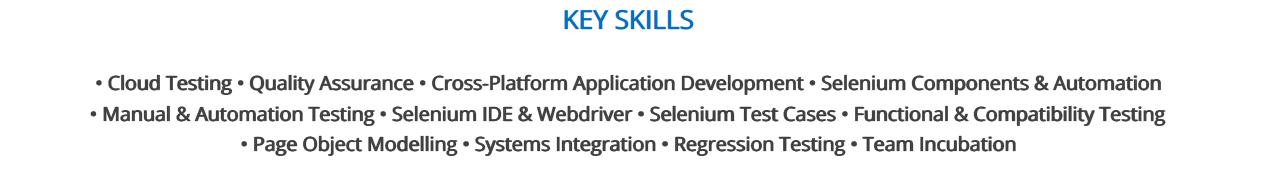 Selenium-Resume-Key-Skills