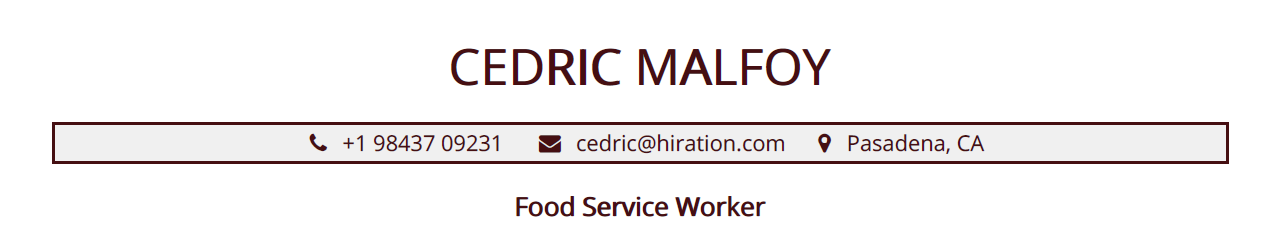 food service resume  the 2020 guide with 10  samples