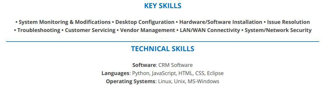 Entry-Level-IT-Resume-Key-Skills