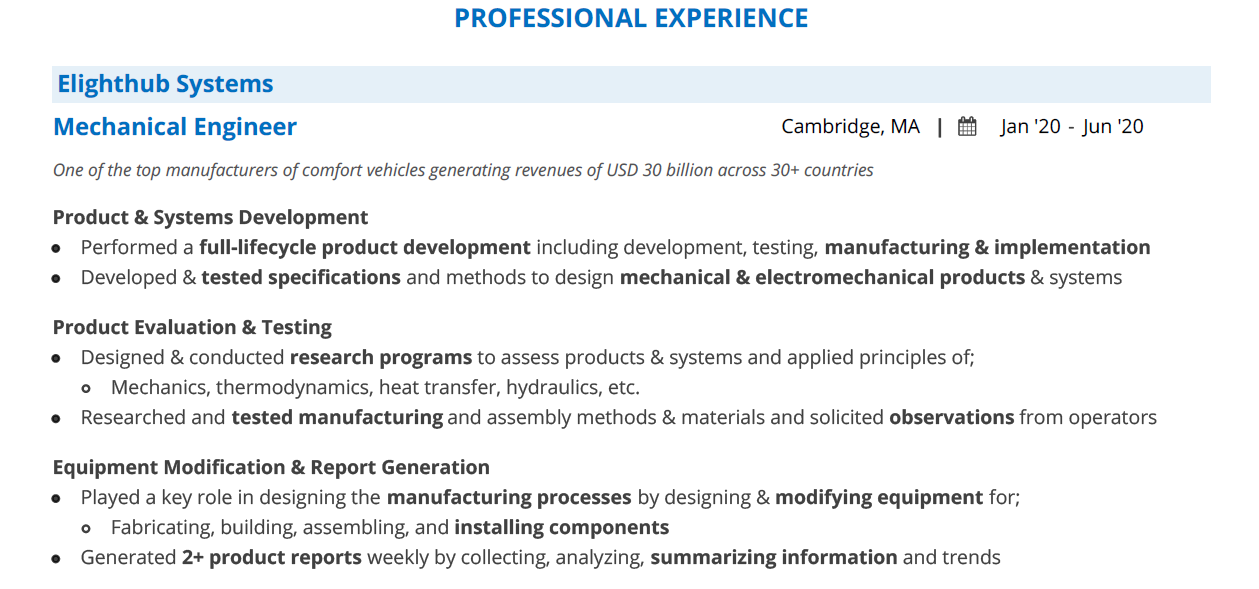 Entry-Level-Mechanical-Engineering-Resume-Professional-Experience