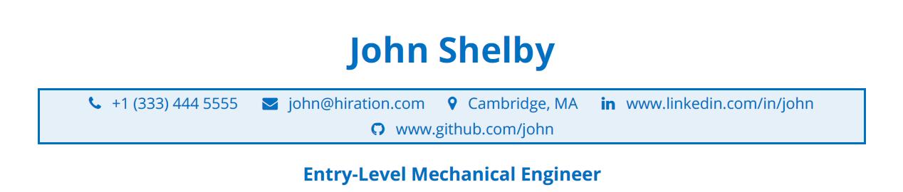 Entry-Level-Mechanical-Engineering-Resume-Profile-Title