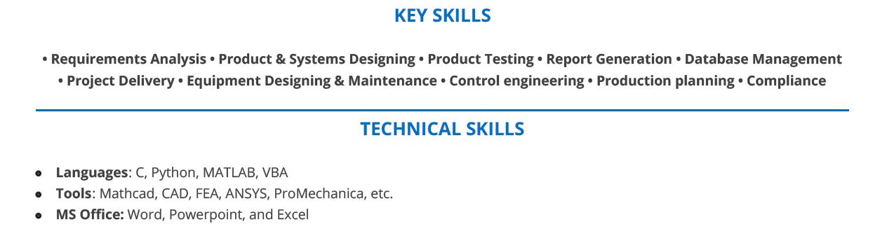 Entry-Level-Mechanical-Engineering-Resume-Skills