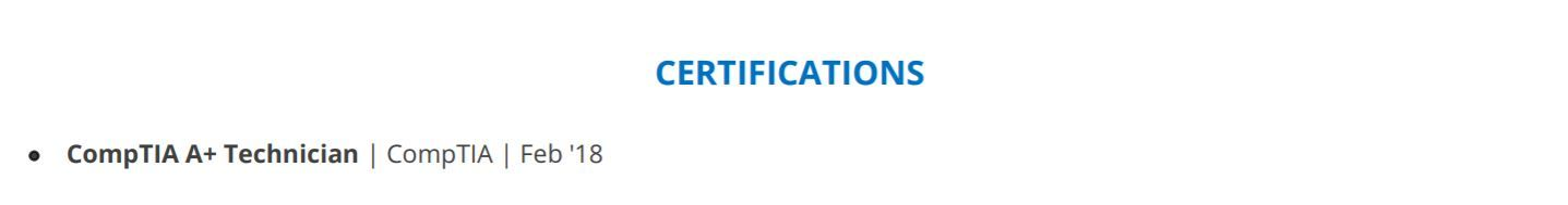 it-professional-resume-certifications