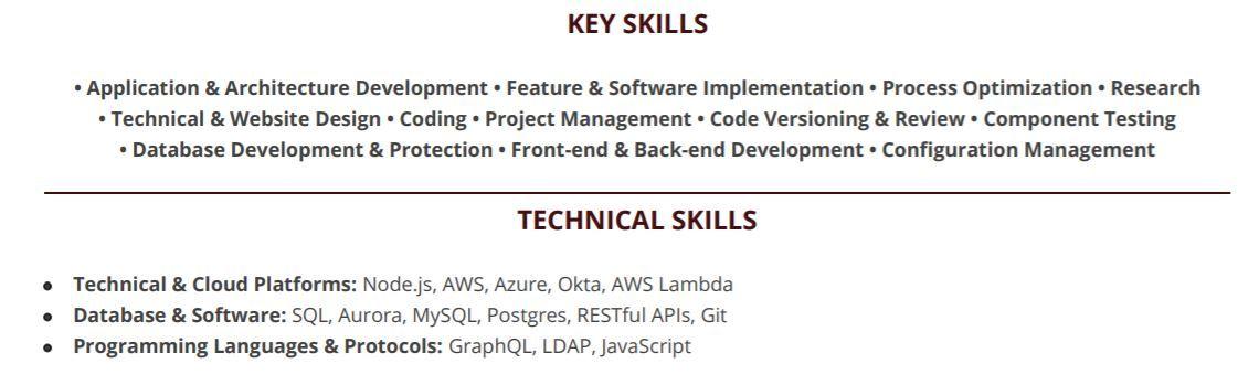 nodejs-resume-key-skills