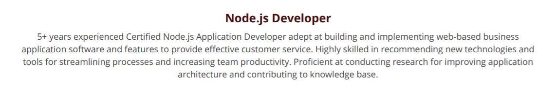 nodejs-resume-summary