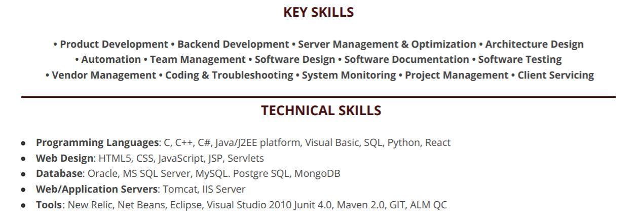 software-engineering-resume-key-skills
