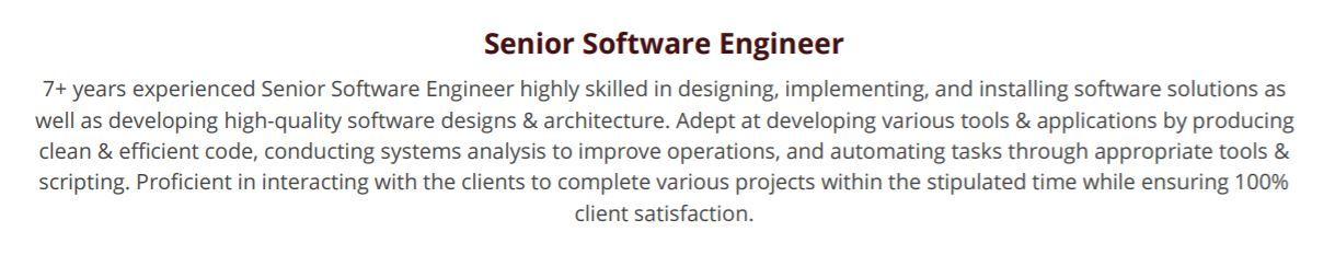 software-engineering-resume-summary