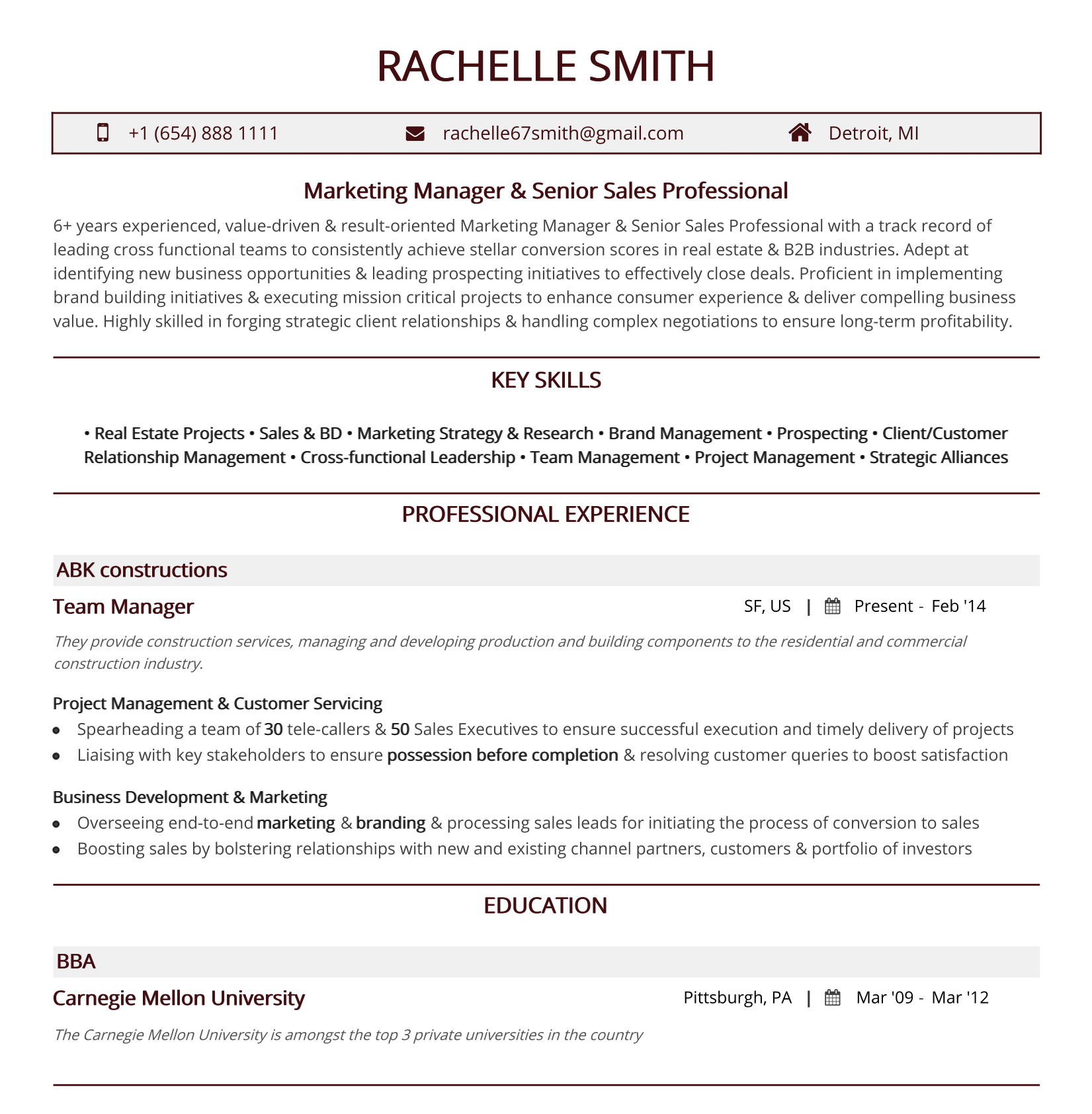 Traditional-minimal-resume