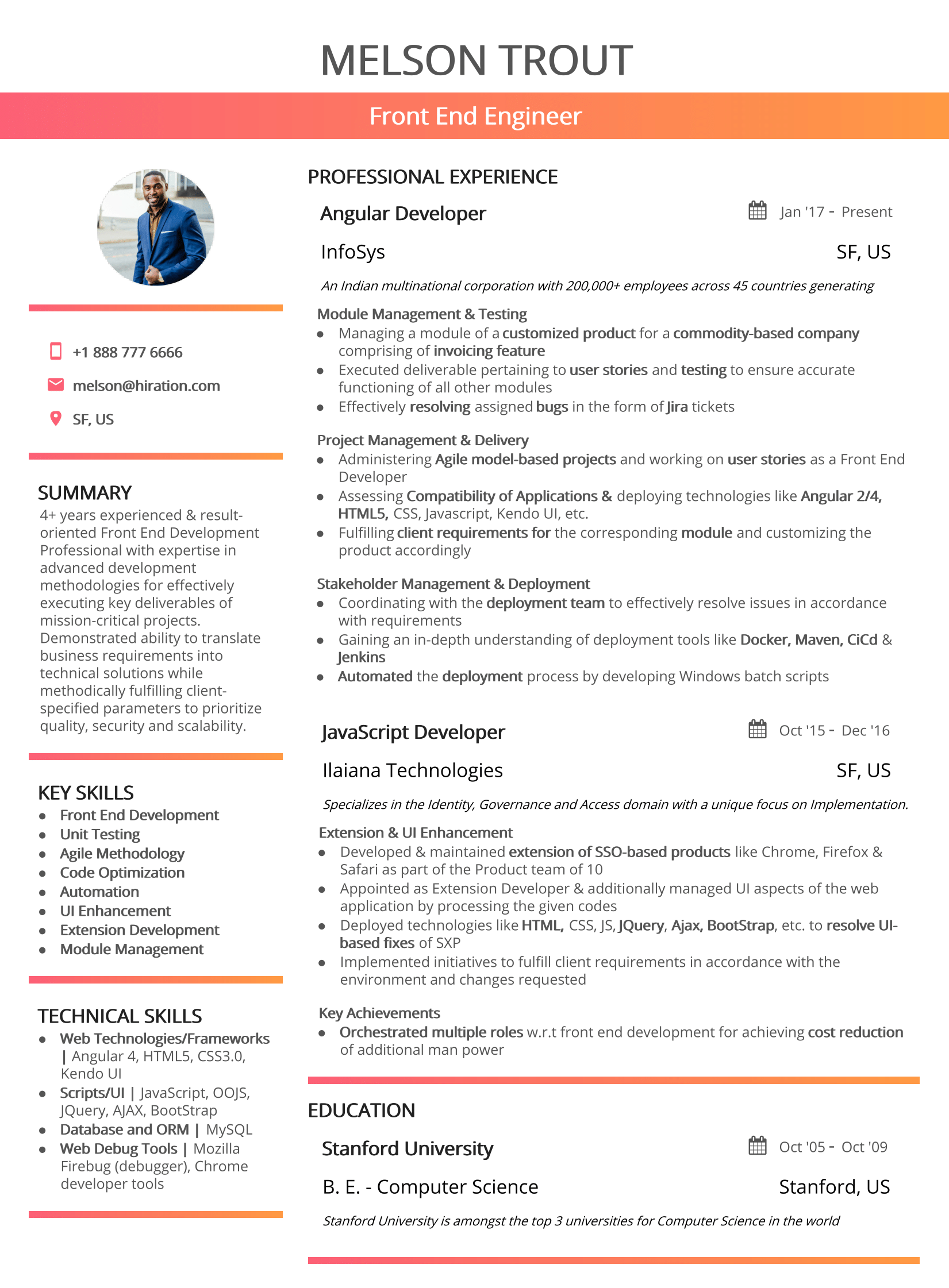 california-clean-resume-template