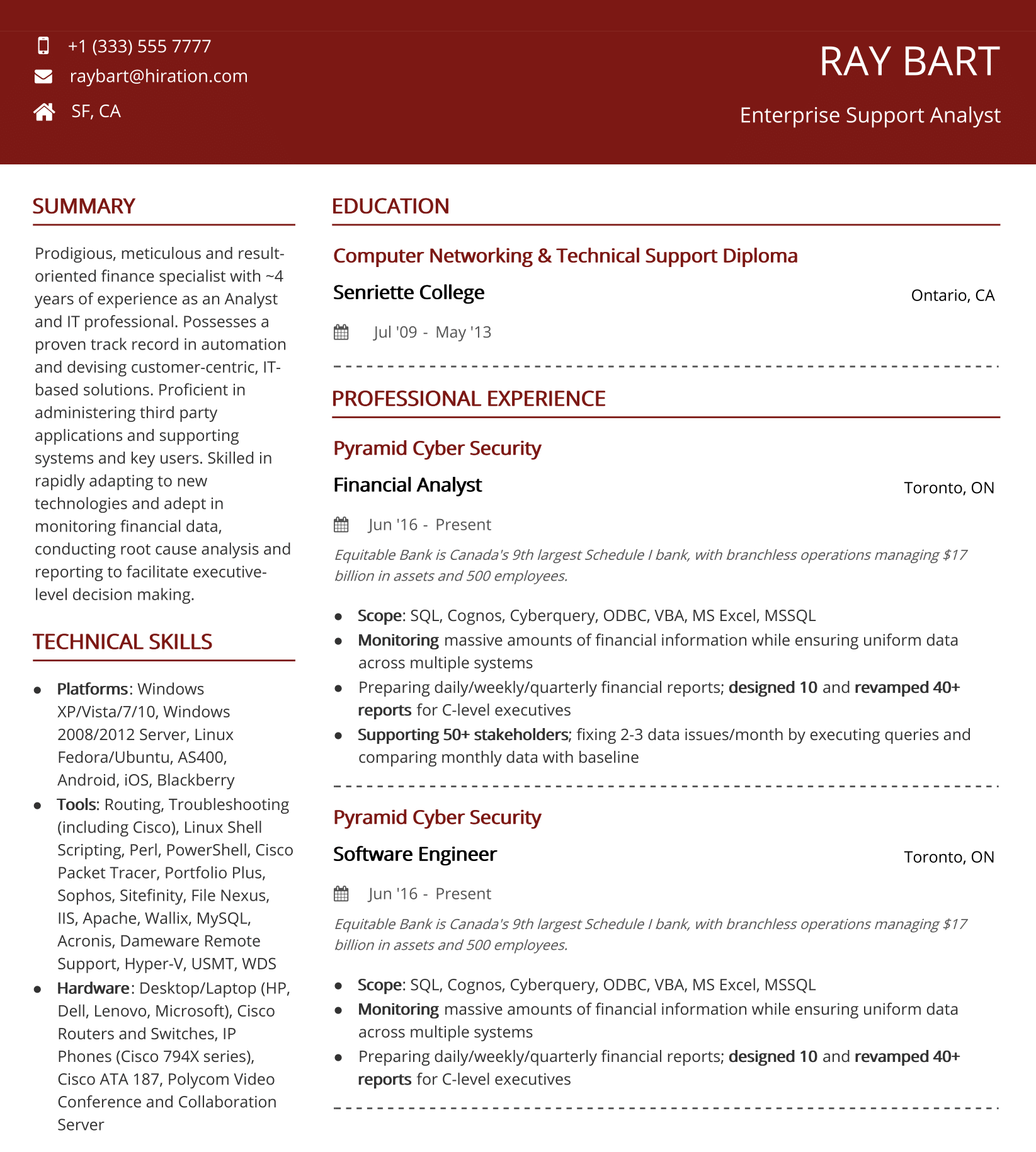 vibrant-red-clean-resume-template
