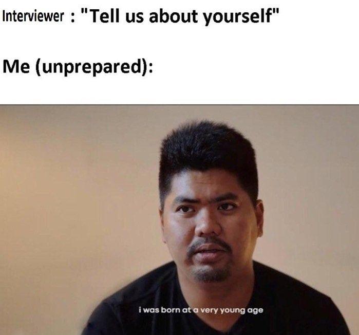 resume-meme-unprepared-interview
