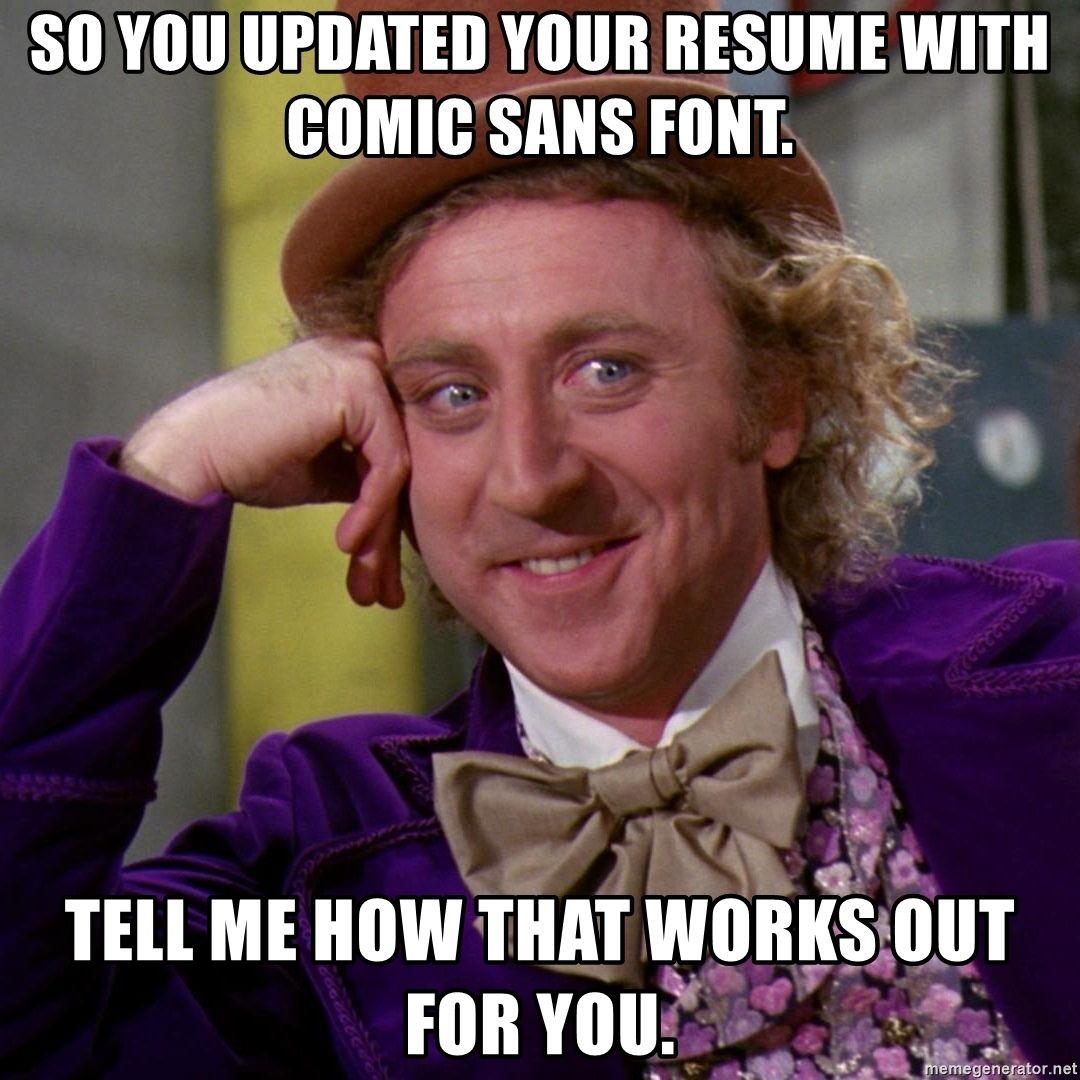 resume-meme-resume-font