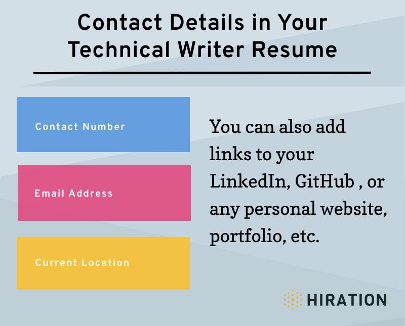 Technical-Writer-Resume-Infographic-Contact-Details