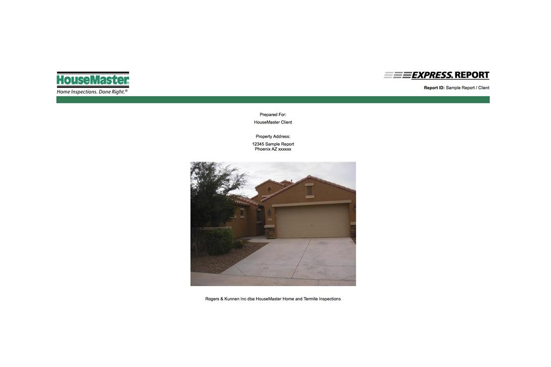 Phoenix HouseMaster Express Report Sample