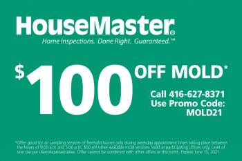 HouseMaster Toronto $100 Off Mold Testing