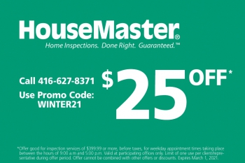 HouseMaster Toronto $25 Off Standard Home Inspection