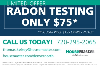 $50.00 in savings when you book a radon test with inspection