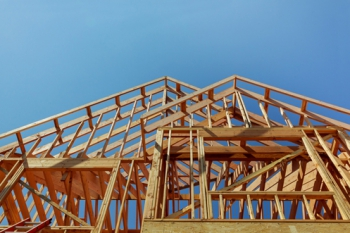 Open Wood Framing On a New Construction Home