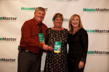 Fred and Cathy Holwell with Kathleen Kuhn President and CEO of HouseMaster