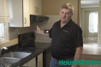 HouseMaster Demonstrates the Inspection of a Kitchen Sink Dishwasher Range Hood