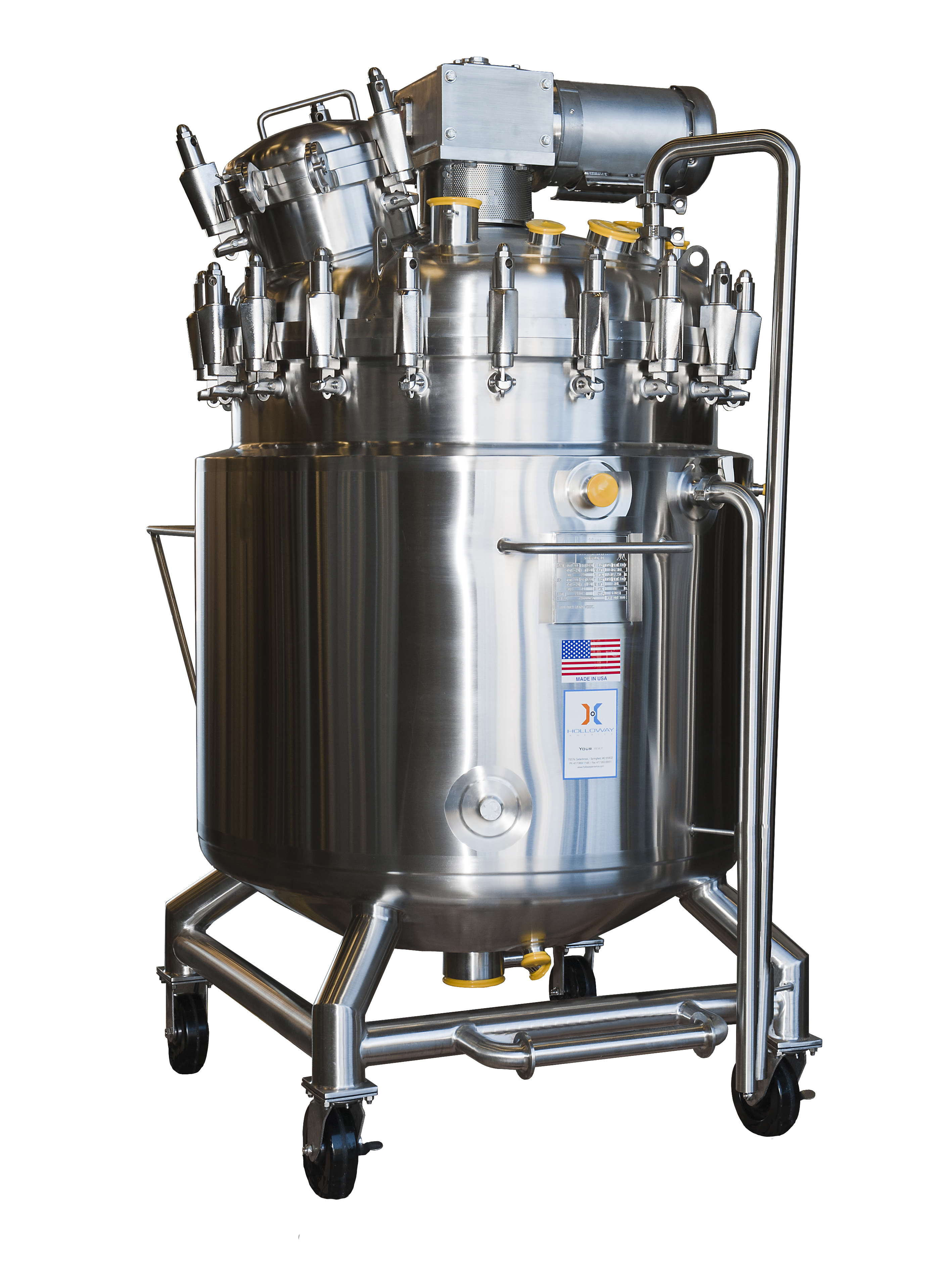 This photo shows a fermentation vessel built by HOLLOWAY AMERICA.