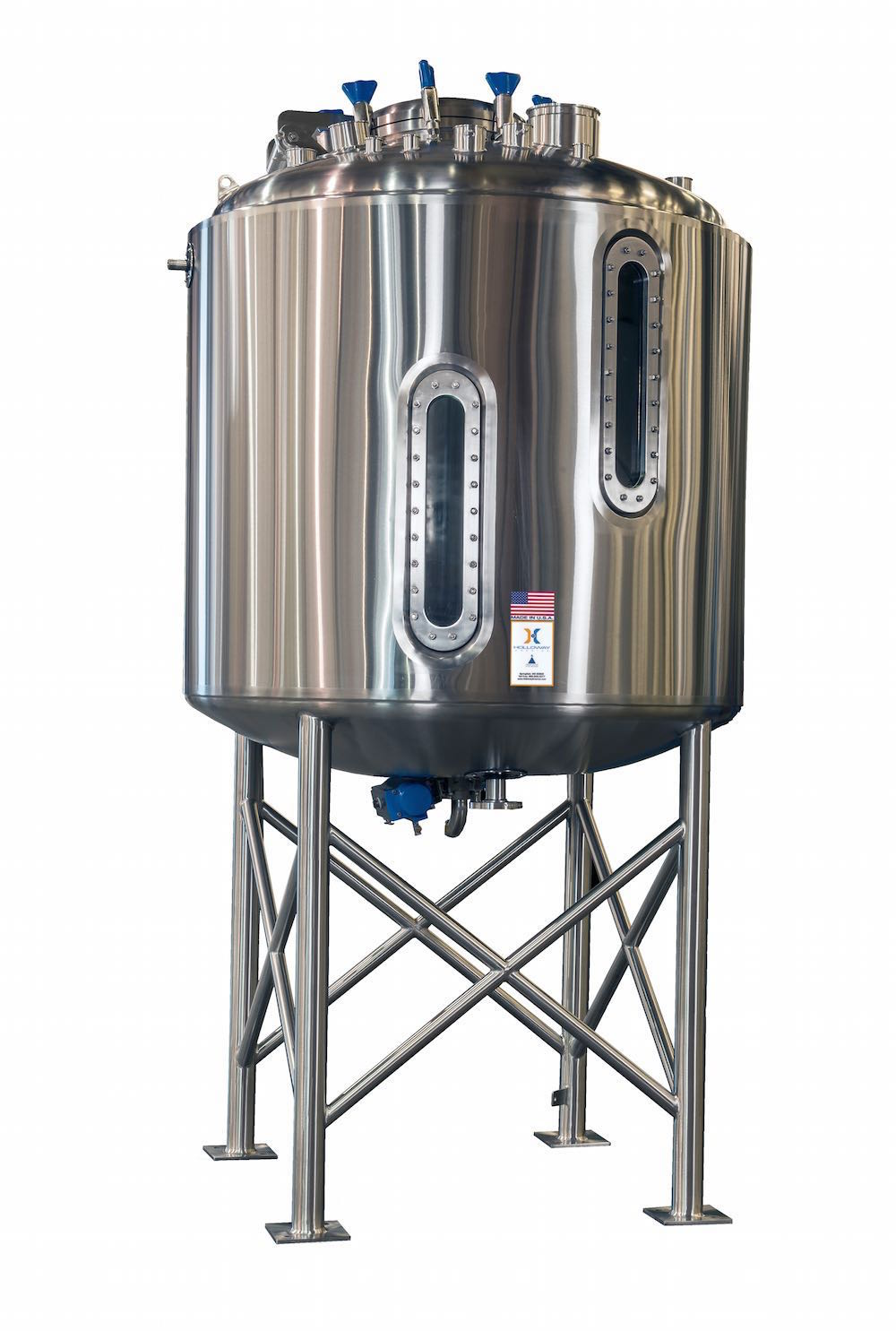 HOLLOWAY AMERICA specializes in producing fermentation vessels like the one shown here.