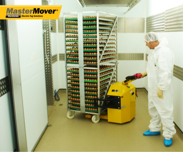 This is a photo of the MasterMover® Electric Tugger at work.