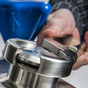 Custom stainless steel fabrication of Seal Break Pliers helps protect the pressure vessel from contamination.
