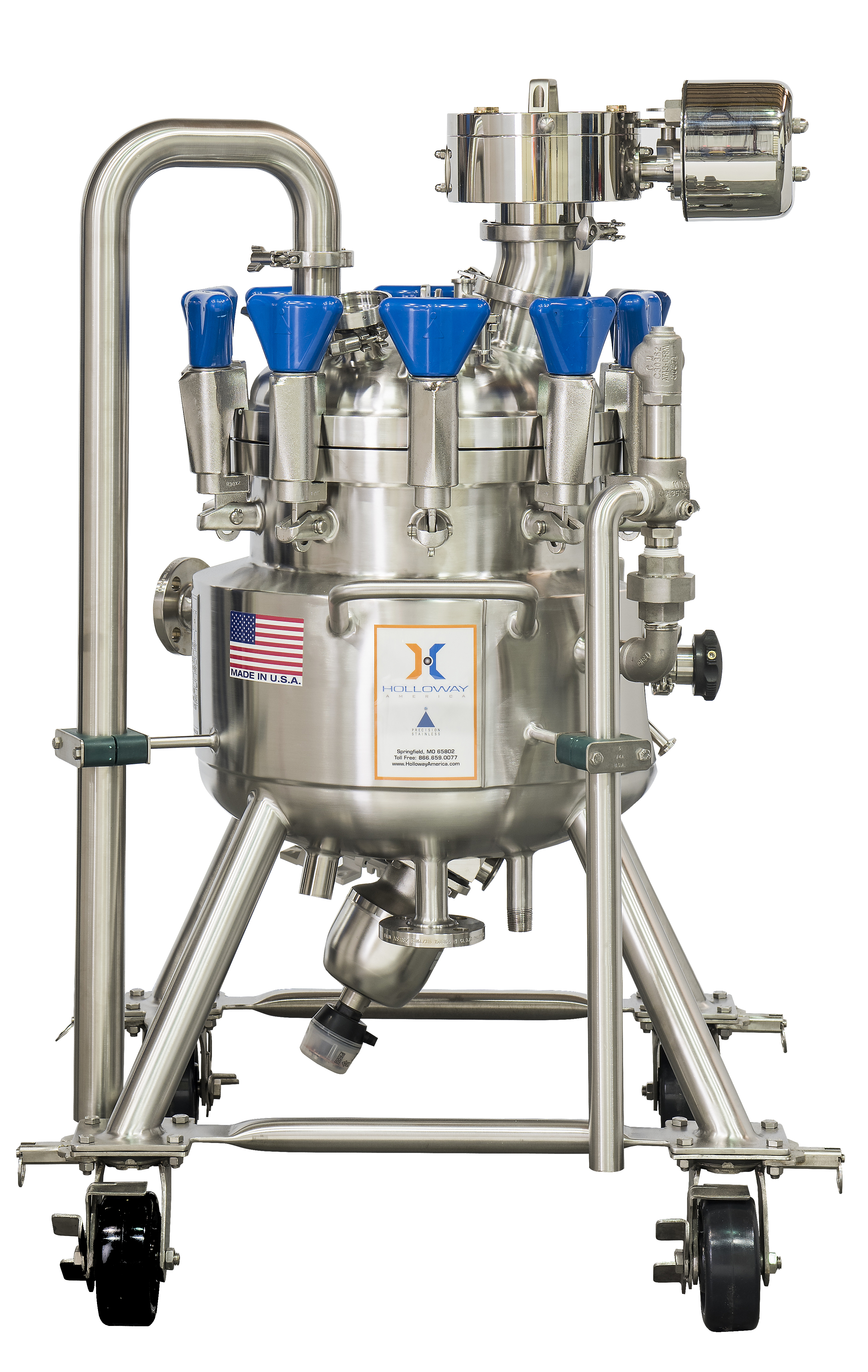 This laboratory pressure vessel is among portable pressure vessels from Holloway.