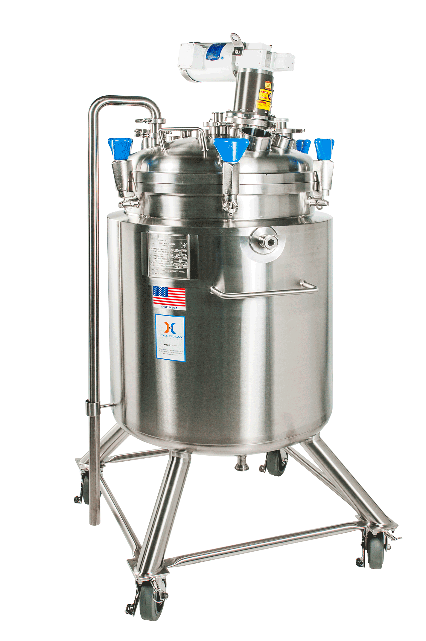 A mix tank with wheels, like this, is a portable mixing tank or vessel.