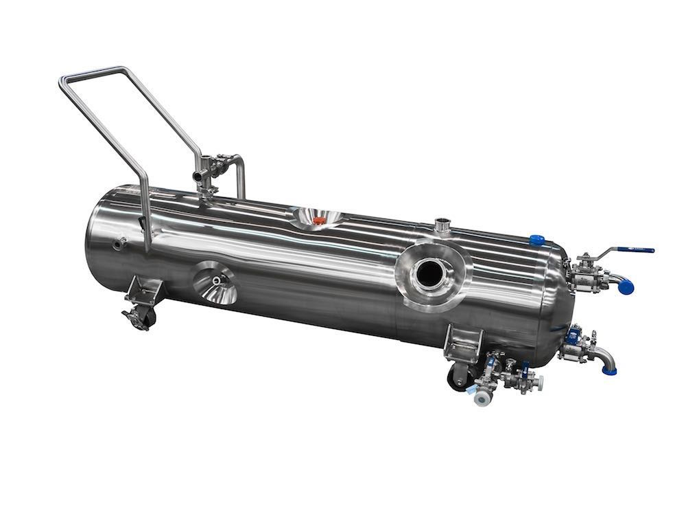 ASME pressure vessels, like this portable ASME tank, meet the stainless steel code.