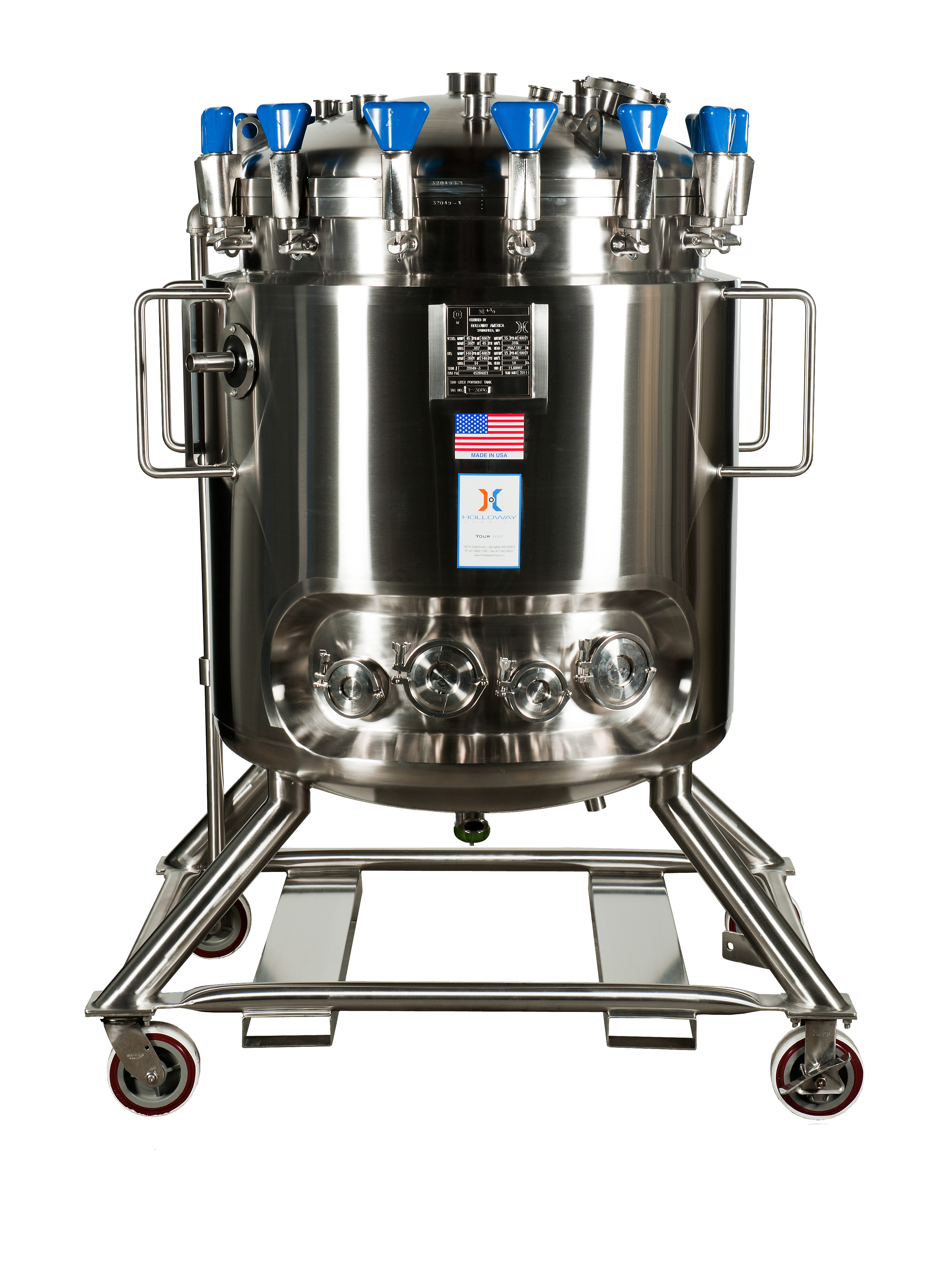 ASME pressure vessels can be portable, like this tank.A