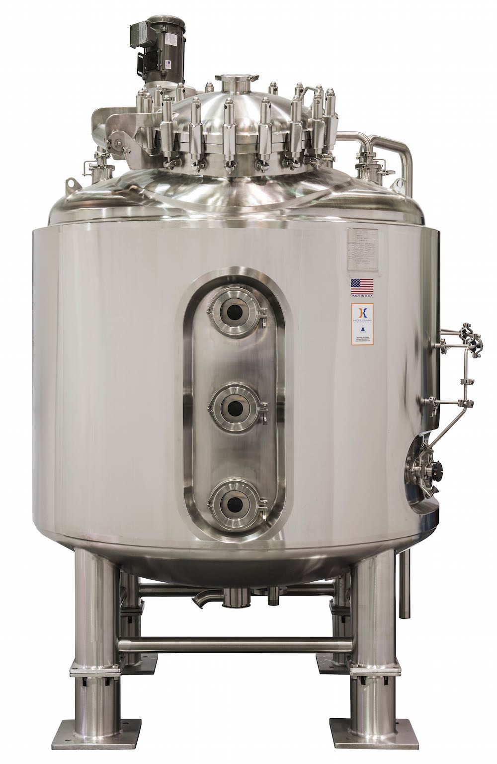 Holloway followed stainless steel ASME code for this ASME mixer tank.