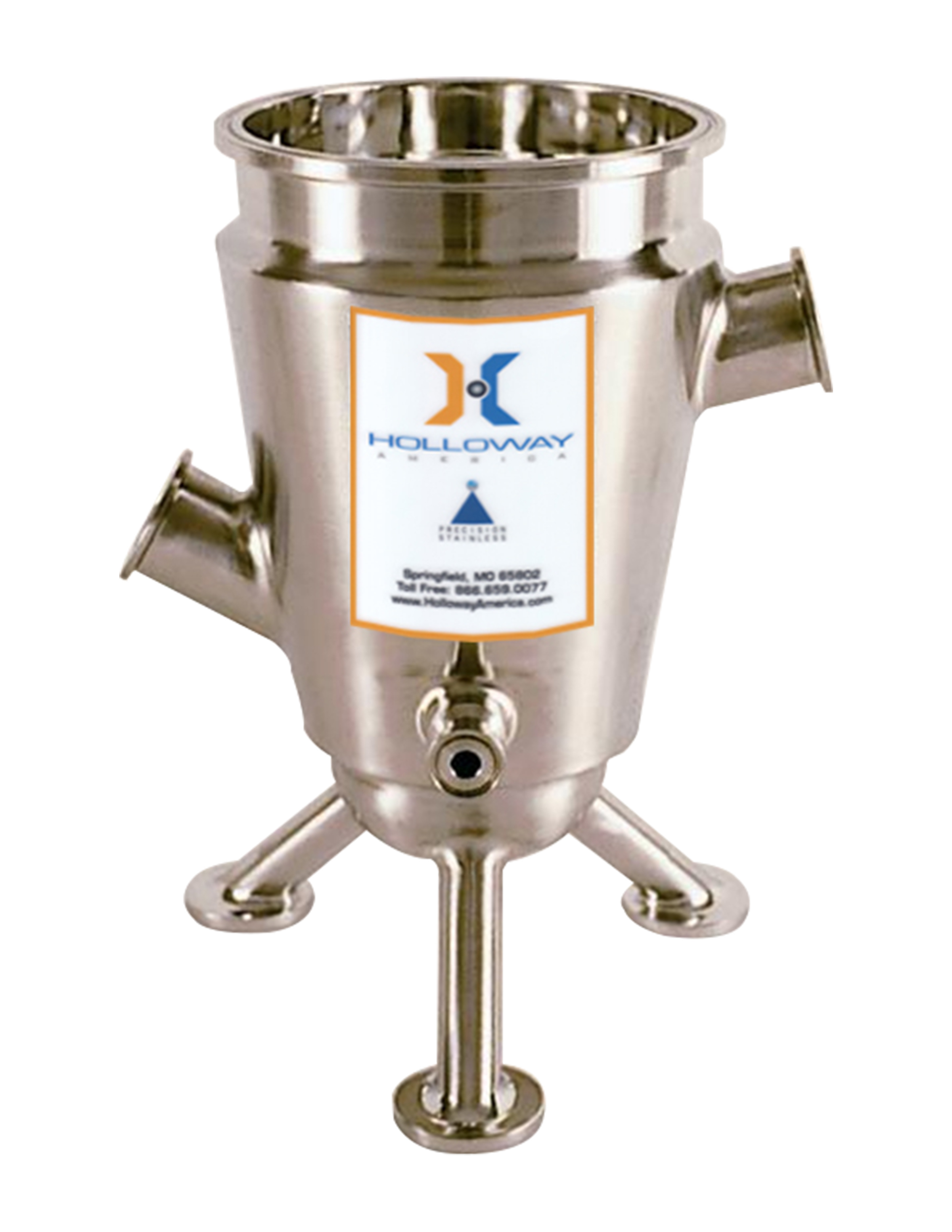 Put our ASME pressure vessels, like this tank built to the stainless steel ASME code, to work.