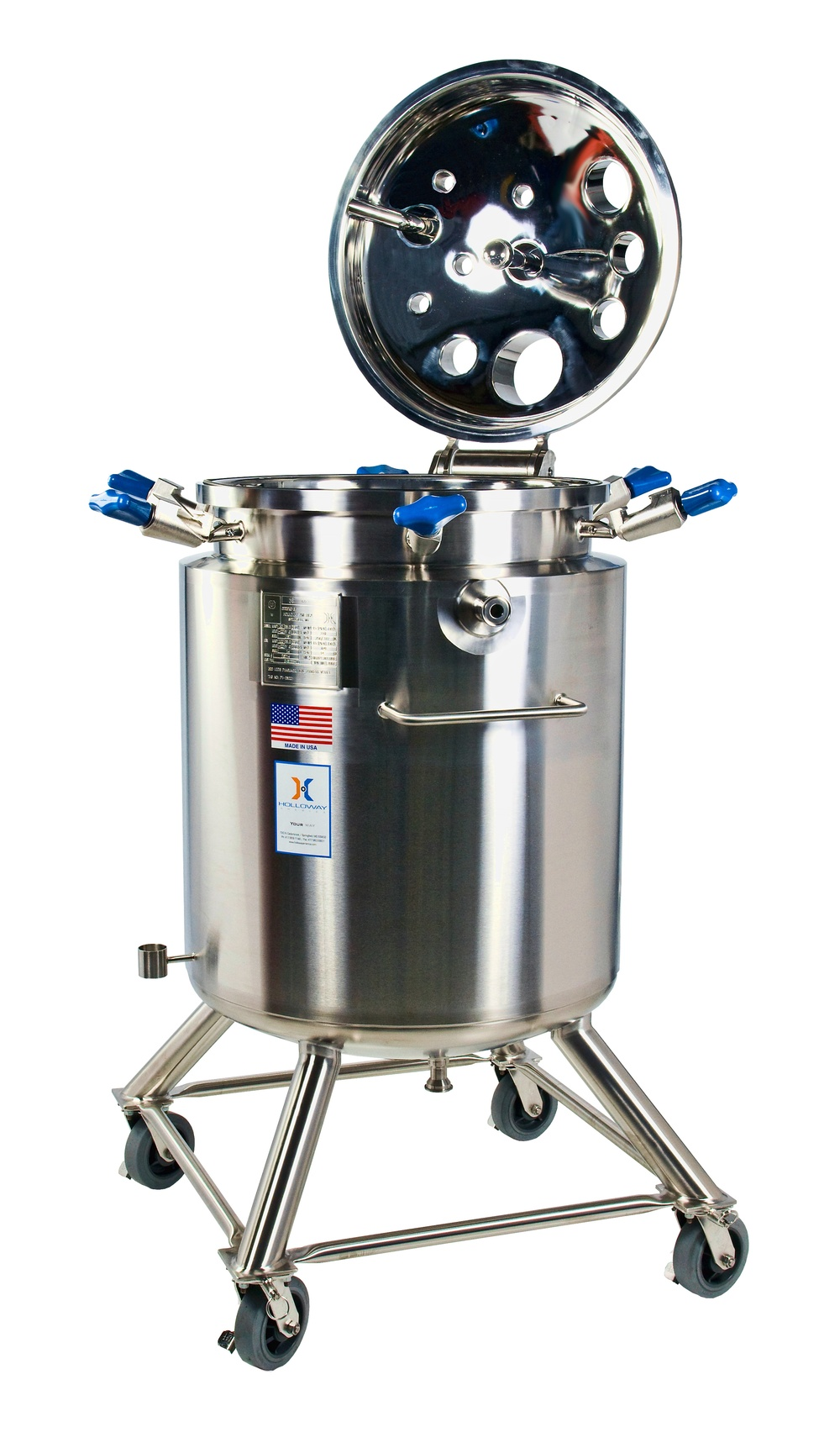 Another portable mix tank, this mixing vessel is built to spec.