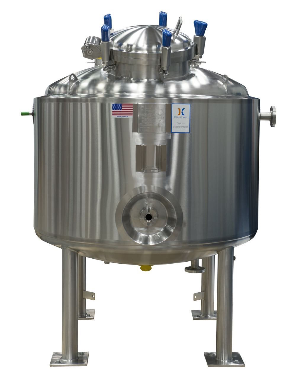 CIP stainless steel tanks and pressure vessels make cleaning easy.