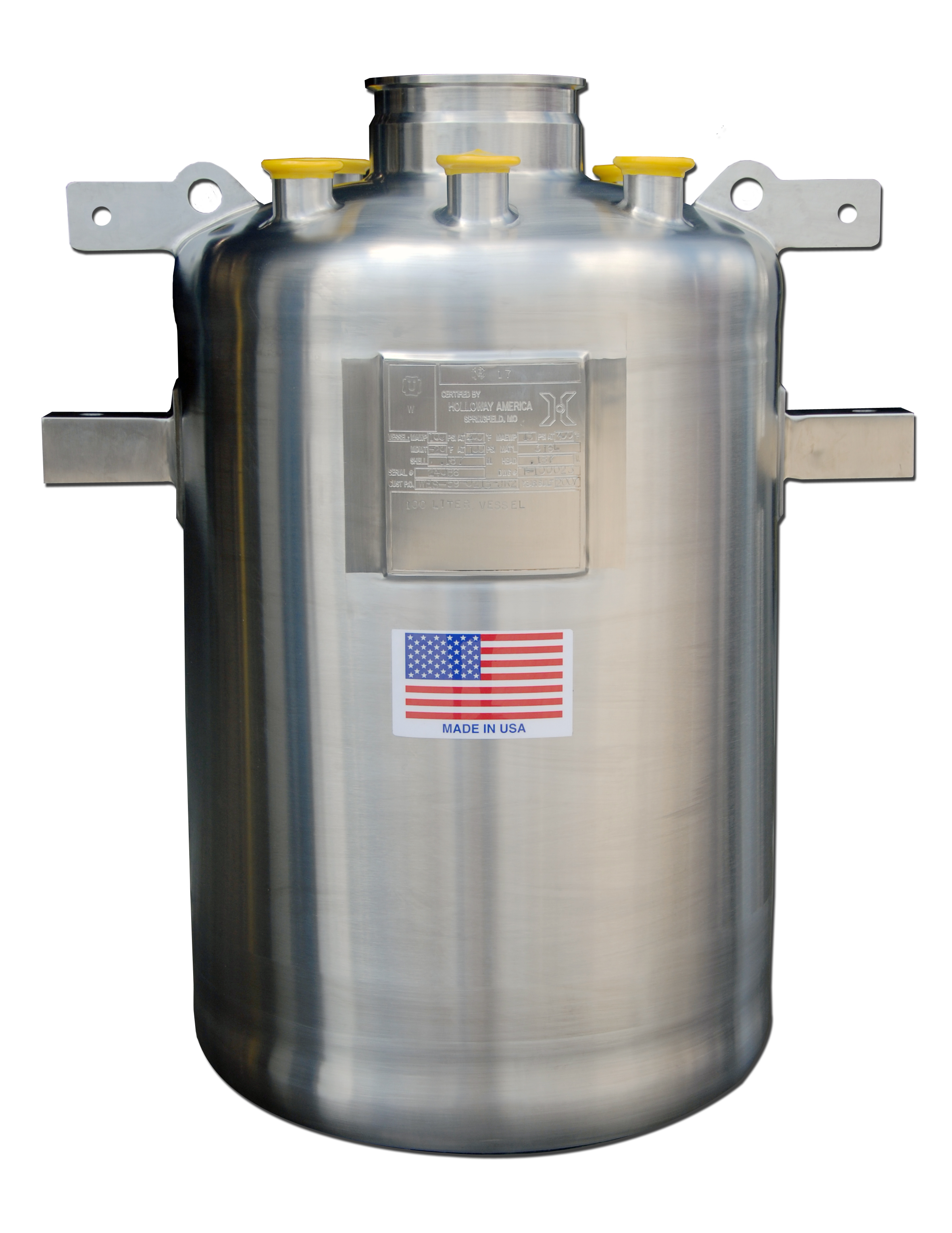 This ASME stainless steel tank meets strict regulations.