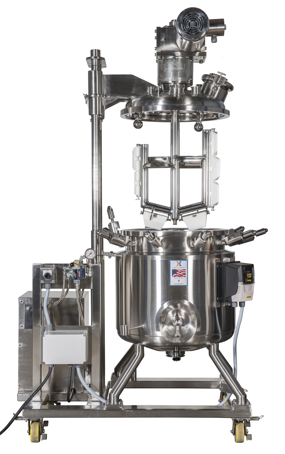 Stainless steel tank design with a control panel takes pressure vessels to the next level.