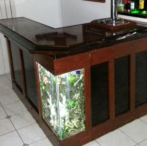 Build your own aquarium bar american homebrewers association for How to build a wall bar