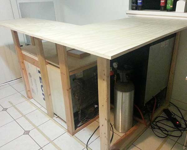 Build your own aquarium bar american homebrewers association for How to build a home bar from scratch
