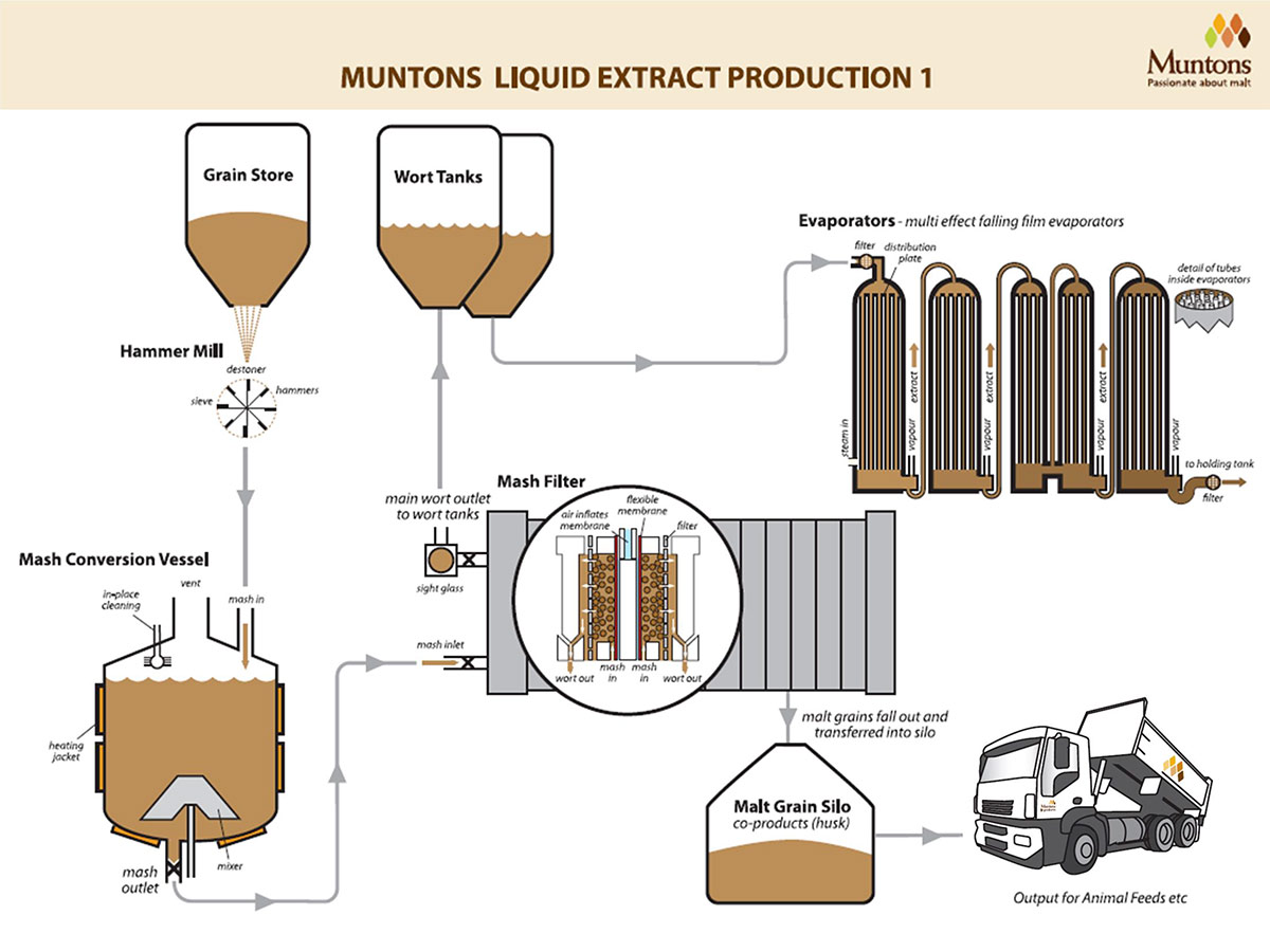 Liquid Malt Extract Production