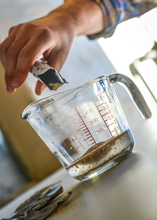 Rehydrating Yeast