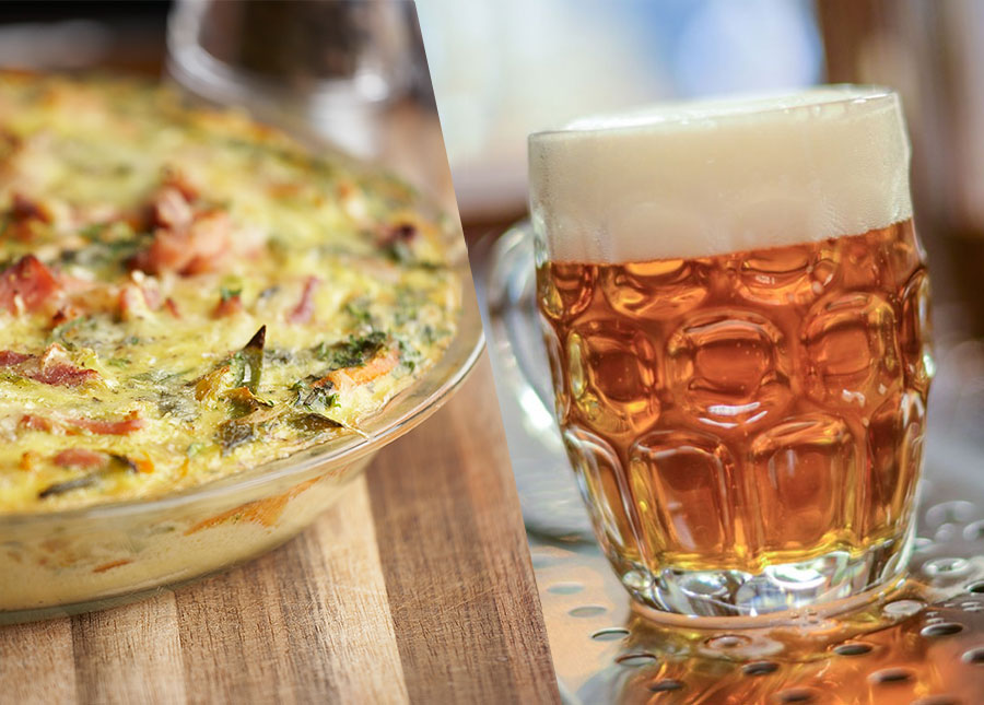 The Homebrewer's Table: Brunch Frittata with German-style Märzen