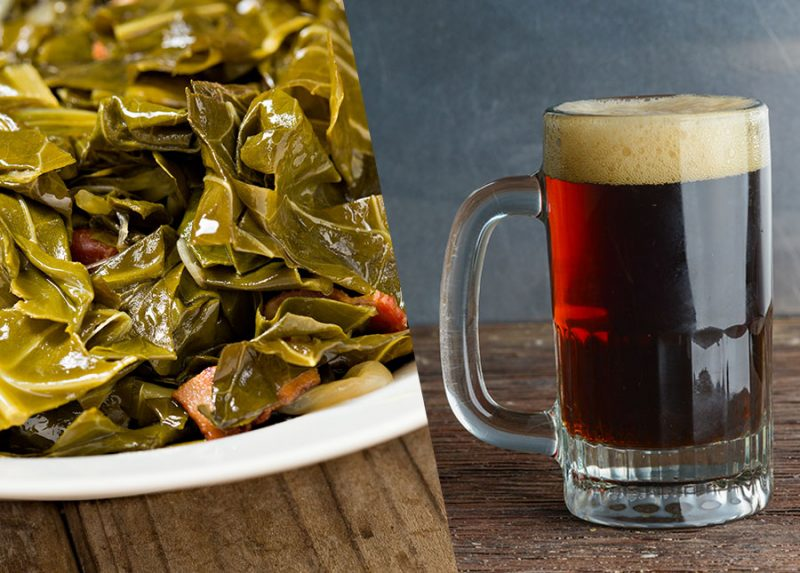Collard greens and schwarzbier