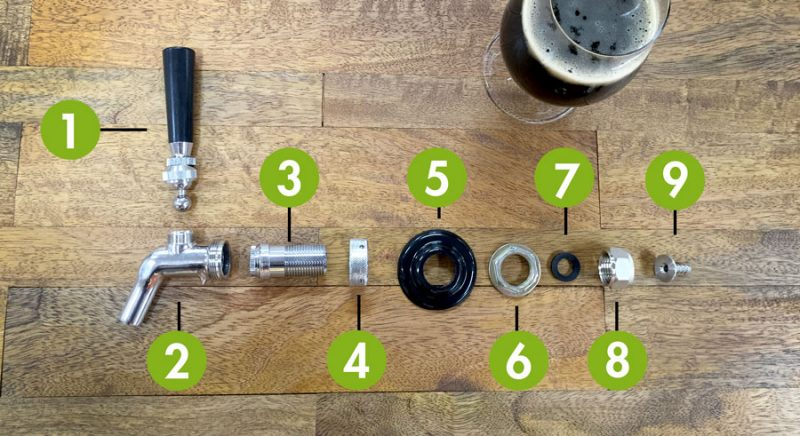 The Anatomy Of A Beer Faucet American Homebrewers