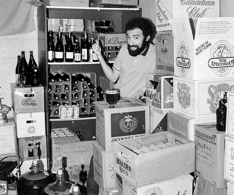 Charlie in his beer cellar circa 1985.
