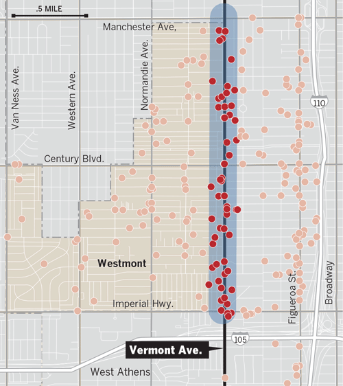 South Vermont Avenue: L.A. County's ' alley' - The Homicide ... on