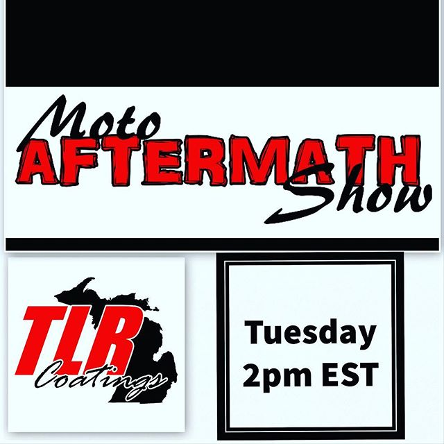 New episode of the Moto Aftermath Show Presented By TLR Coatings goes up at 2pm est. today. In this newest episode we cover all the action from round 6 of the Monster Energy ama Supercross series from San Diego. We cover everything from the Roczen Webb battle to Hill getting his first win on his new JGR bike. Going up on the YouTube channel today (link in bio) #sx #sxonfox #supercross #supercrosslive #ktm #redbull #monsterenergy #monsterenergysupercross #kawasaki #honda #hrc #procircuit #huskavarna #yamaha #elitomac #kenroczen #blakebagget #marvinmusquin #justinbarcia #jasonanderson #sandiego #motorcycle #dirtbike #whoops #crash #jump #motoaftermathshow #tlrcoatings #talkshow