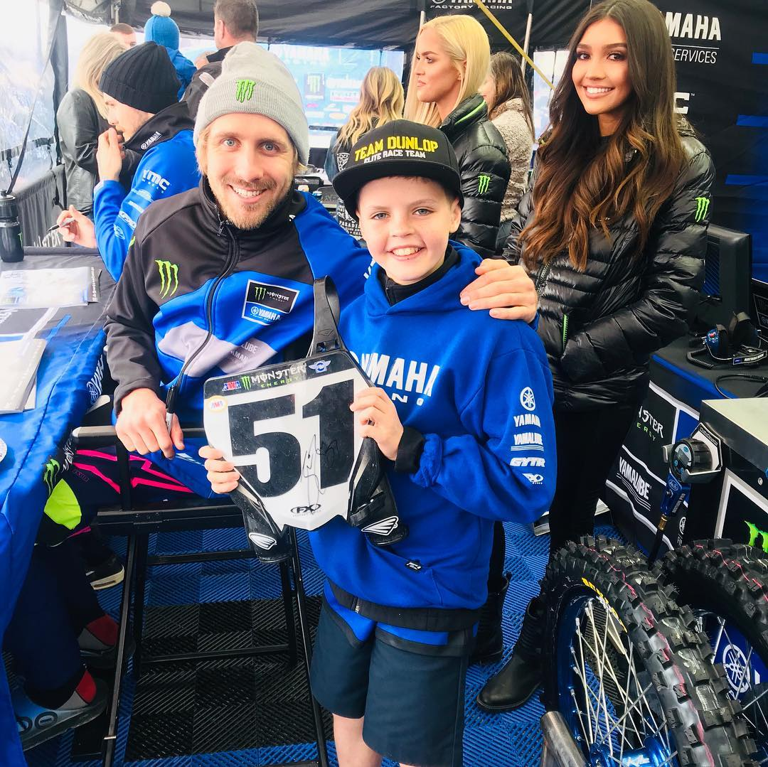 🙌🏻THE WORLD IS COOL!  Last week we shipped off the @justinbarcia memorabilia that @yamahamotorusa donated for our family fundraiser benefiting Caroline who is battling cancer.  I had begged my mom to keep the memorabilia as I thought it was way too cool!  We decided it wouldn't be right as items were trusted to us to only be used for our fundraiser.  But, I really wanted the number plate!! So off the items went in the mail, feeling good about our choice and raising money for Caroline; BUT, leaving me without any #justinbarcia memorabilia!  Then, today, look what I received from Justin Barcia himself!!! @justinbarcia gave me a signed number plate!!!! How cool is this!!! The world is a beautiful place! . . . @monsterenergy @supercrosslive @yamahamotorusa @ridedunlop #monsterenergy #supercrosslive #yamaha #justinbarcia #theworldisabeautifulplace #rad #randonactsofkindness #radmx #Yamaha #bLUcRU #victorYZone #YZ65 #YZ85 #yamaharacing #motorcyclesforlife #bLUcRUYamaha #teamdunlop  #thechoiceofprofessionals #sx #mx #dirtbike #motocross #morekidsonbikes #kidswhoexplore #fitkids #outdoorkids #healthykids #creativelive #dirtbike  #strongkids #makingwisdomgoviral #goodvibes